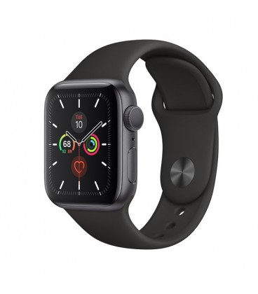 apple watch series 5 aluminum case black sport band 40mm mwv82ll/a
