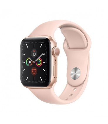 ساعت هوشمند اپل واچ سری 5 مدل Gold Aluminium Case with Pink Sand Sport Loop