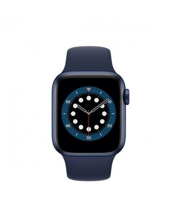 ساعت هوشمند اپل واچ سری 6 مدل Blue Aluminum Case With Deep Navy Sport Band 44 mm