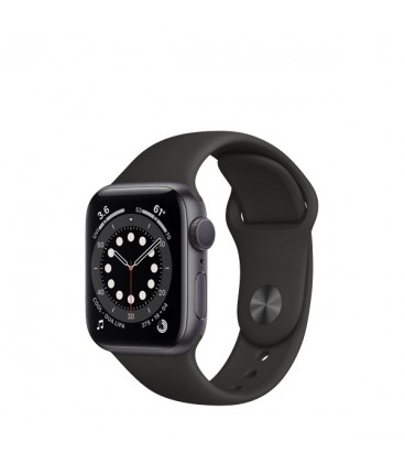 ساعت هوشمند اپل واچ سری 6 مدل Space Gray Aluminum Case With Sport Band 44 mm
