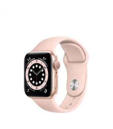 ساعت هوشمند اپل واچ سری 6 مدل Gold Aluminum Case With Sport Band Pink Sand 44 mm