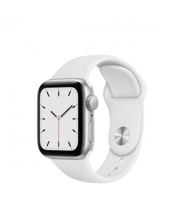 ساعت هوشمند اپل واچ سری SE مدل Silver Aluminum Case With White Sport Band 40mm