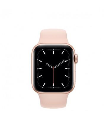 ساعت هوشمند اپل واچ سری SE مدل Gold Aluminum Case With Pink Sand Sport Band 40mm