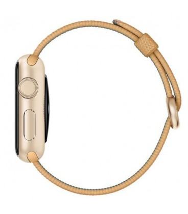 ساعت هوشمند اپل واچ اسپرت مدل 38mm Aluminum Case With Gold Woven Nylon