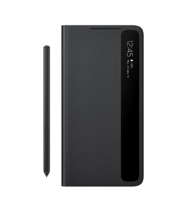 کیف کلاسوری مدل Smart Clear View Cover With S Pen مناسب برای گوشی سامسونگ Galaxy S21 Ultra