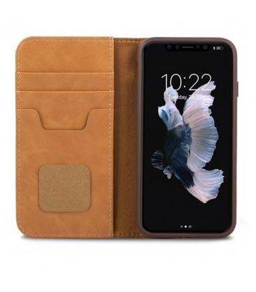 کیف کلاسوری موشی مدل overture caramel brown مناسب برای گوشی iphone x