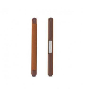 کیف کلاسوری موشی مدل sensecover caramel brown مناسب گوشی iphone x