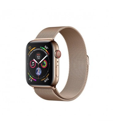 ساعت هوشمند اپل واچ سری 4 مدل Gold Stainless Steel Case with Gold Milanese Loop