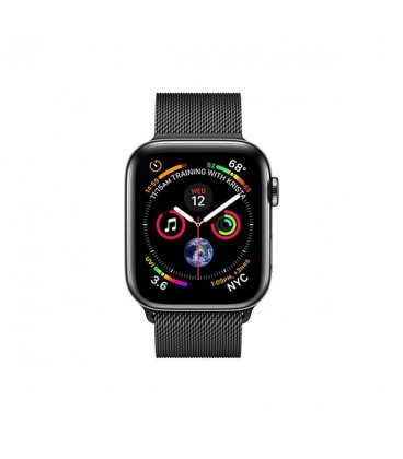 ساعت هوشمند اپل واچ سری 4 مدل Space Black Stainless Steel Case with Space Black Milanese Loop