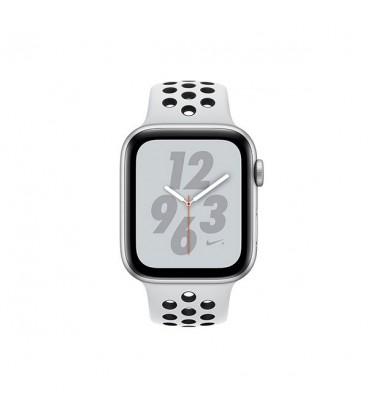 ساعت هوشمند اپل واچ سری 4 مدل Silver Aluminum Case with Pure Platinum Black Nike Sport Band