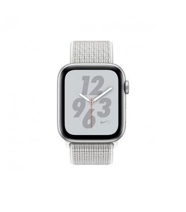 ساعت هوشمند اپل واچ سری 4 مدل Silver Aluminum Case with Summit White Nike Sport Loop