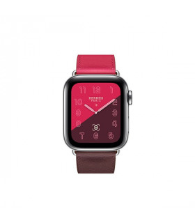 ساعت هوشمند اپل واچ سری 4 مدل Stainless Steel Case with Bordeaux Rose Extrême Rose Azalée Swift Leather Single Tour