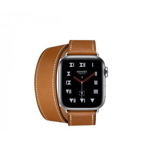 ساعت هوشمند اپل واچ سری 4 مدل Stainless Steel Case with Fauve Barenia Leather Double Tour