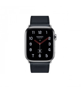 ساعت هوشمند اپل واچ سری 4 مدل Stainless Steel Case with Bleu Indigo Swift Leather Single Tour