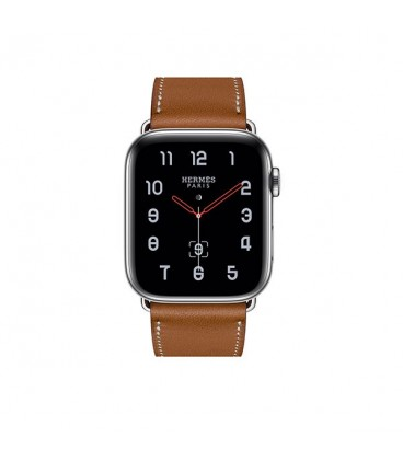 ساعت هوشمند اپل واچ سری 4 مدل Stainless Steel Case with Fauve Barenia Leather Single Tour