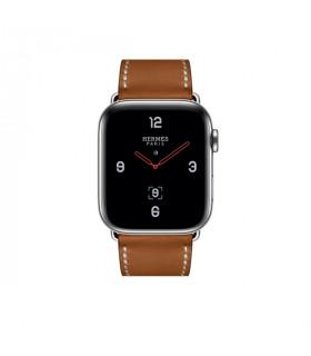 ساعت هوشمند اپل واچ سری 4 مدل Stainless Steel Case with Fauve Barenia Leather Single Tour Deployment Buckle