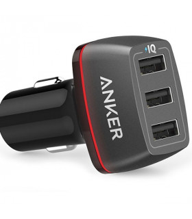 شاژر فندکی سه پورت انکر مدل Anker PowerDrive+ 3 Port Car Charger