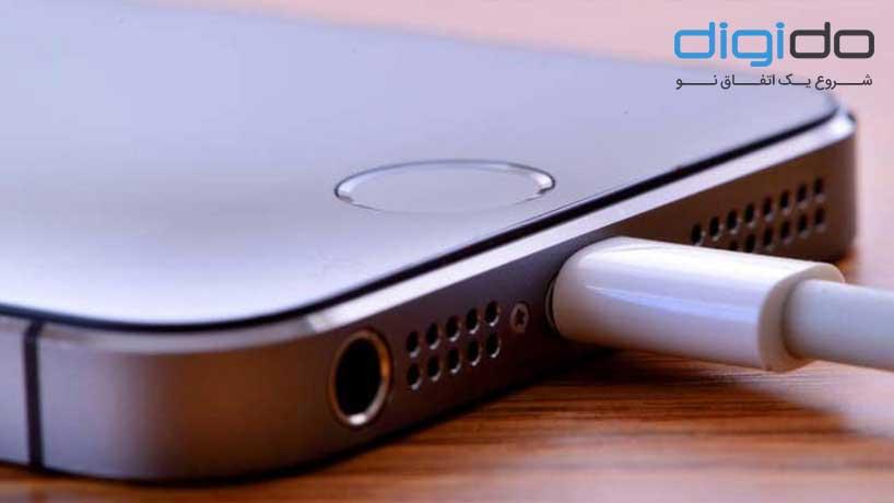 شارژ شدن گوشی ایفون